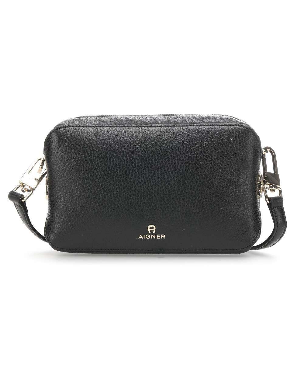 watch new arrive promo codes Milano Crossbody bag grained cow leather black