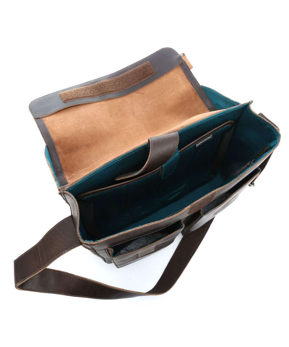Aunts and Uncles Hunter Nick Laptoptasche 14″ dunkelbraun-40515-32-01 Preview