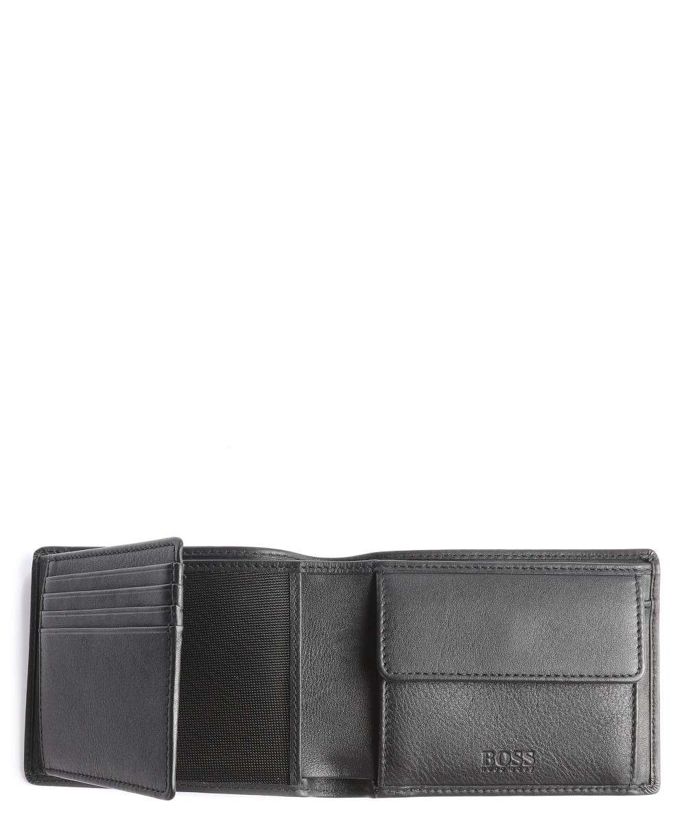 BOSS Leather Small Arezzo Portefeuille noir-50250280-001-01 Preview