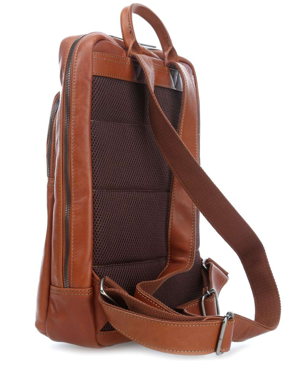 Castelijn and Beerens Firenze Laptop Backpack 15″ light brown-609576LB-00 Preview