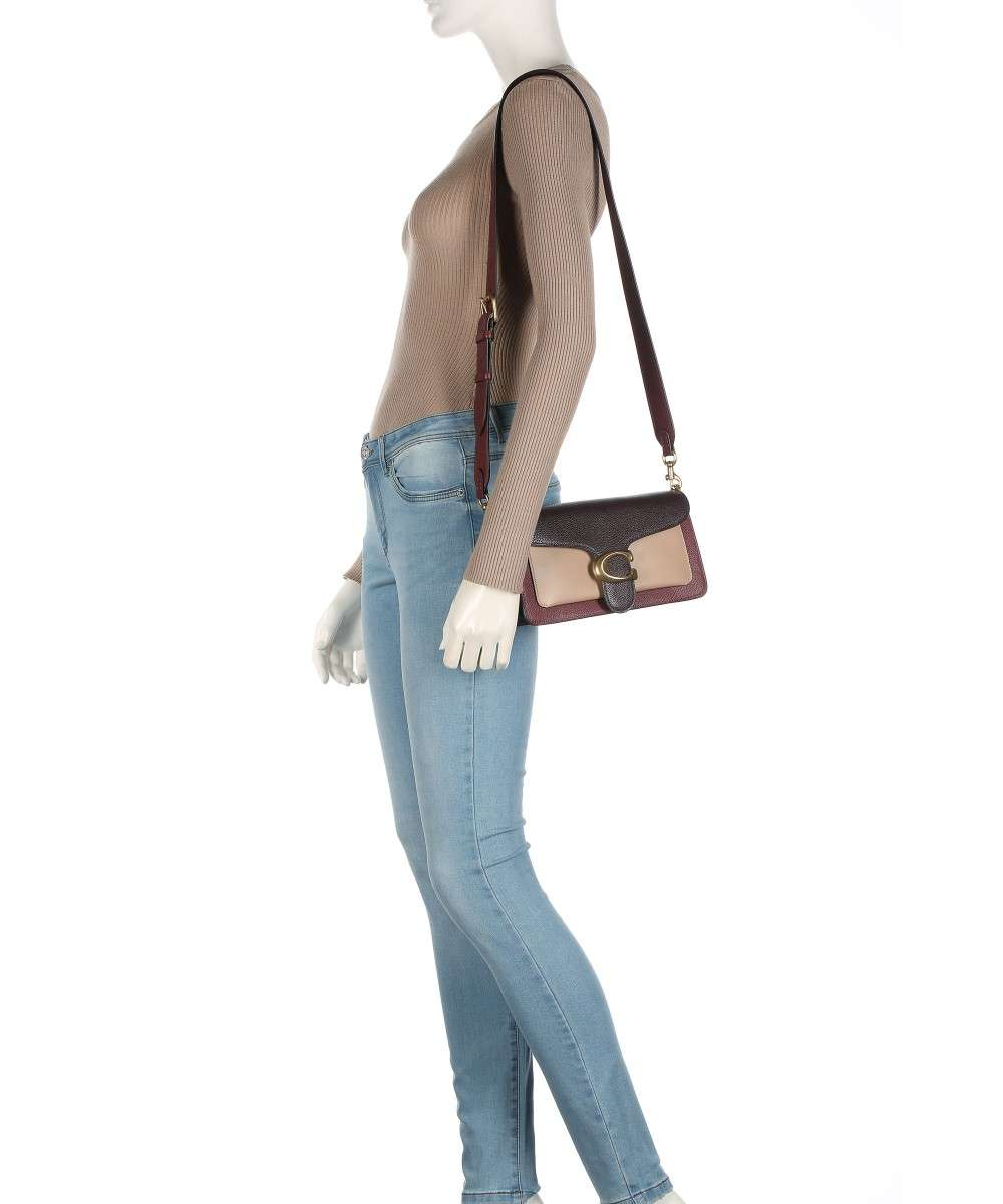 Tabby 26 Crossbody bag grained cow leather red/beige