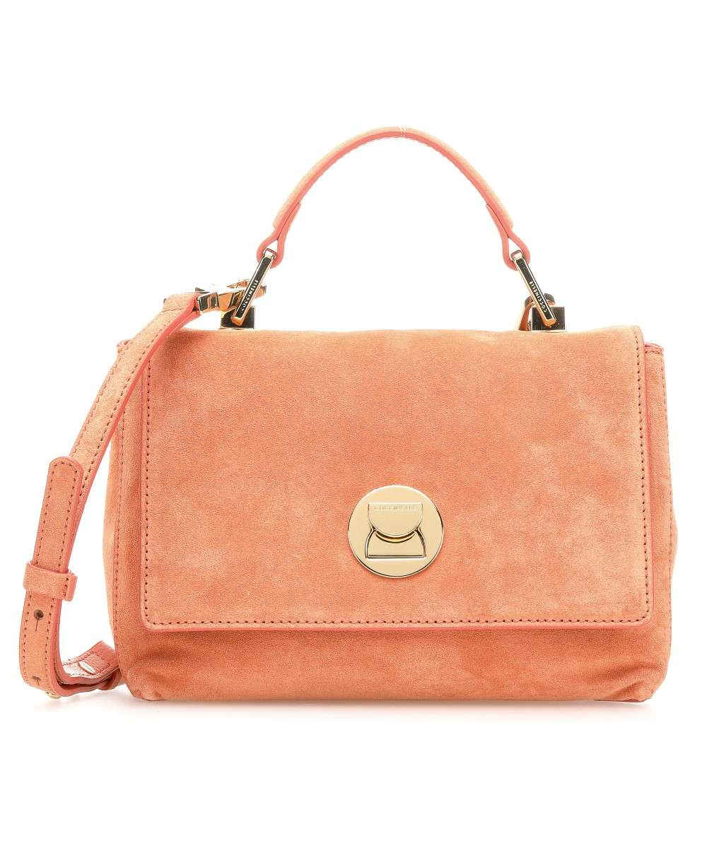 Coccinelle Liya Suede Schultertasche apricot Preview