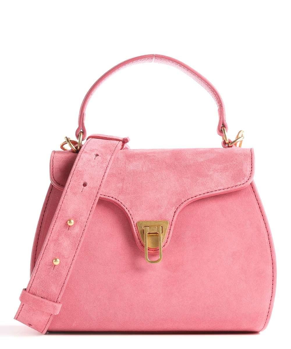 Coccinelle Marvin Suede Schultertasche pink Preview