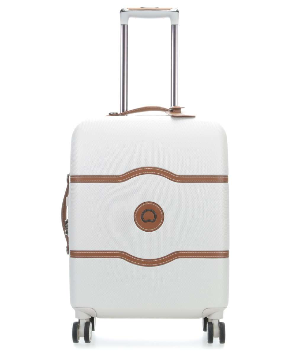 Delsey Chatelet Air Valigia Trolley 4 Ruote Crema 55 Cm