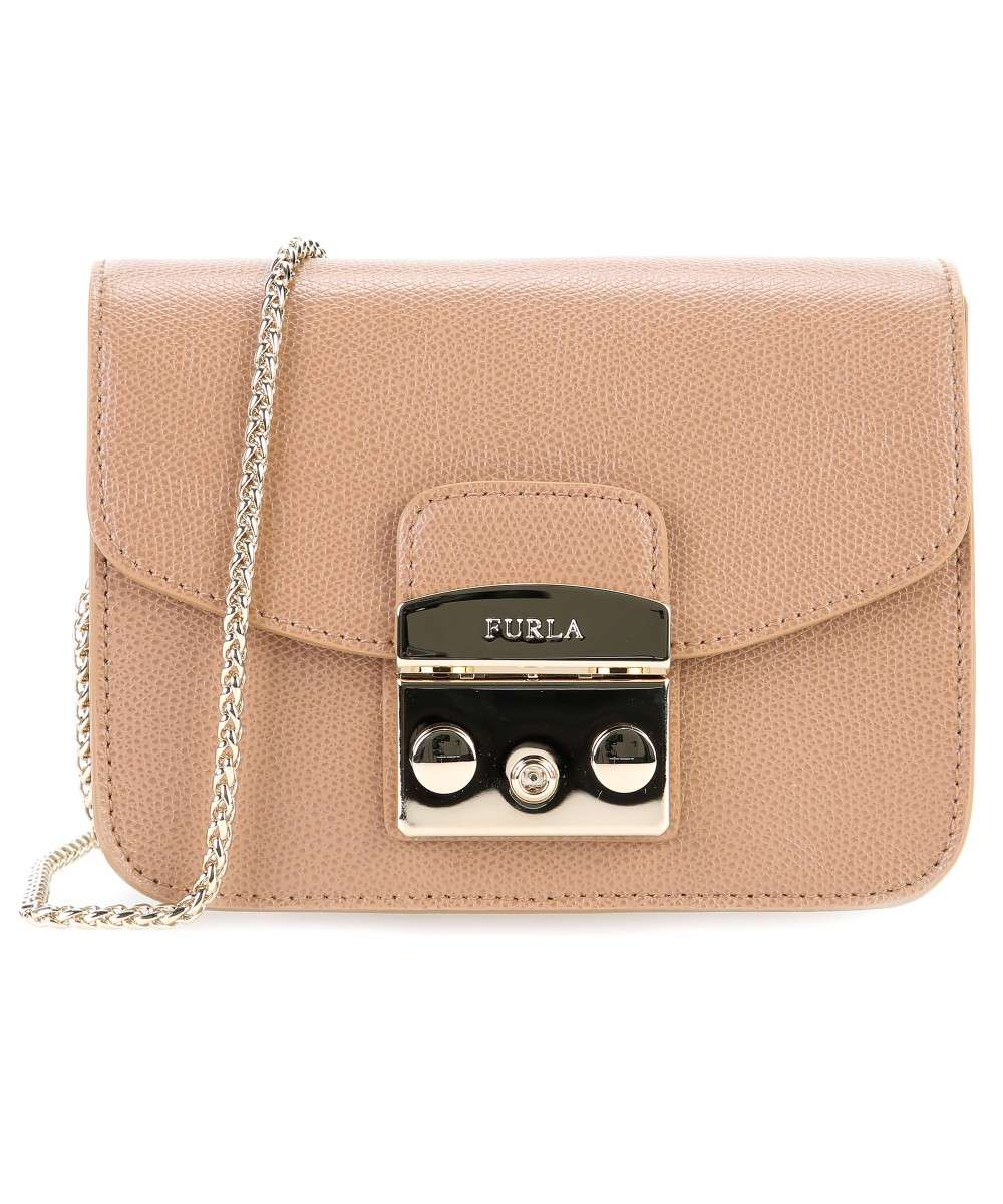 limited guantity available special section Furla Metropolis Mini Shoulder bag leather dark brown - BGZ7-ARE ...