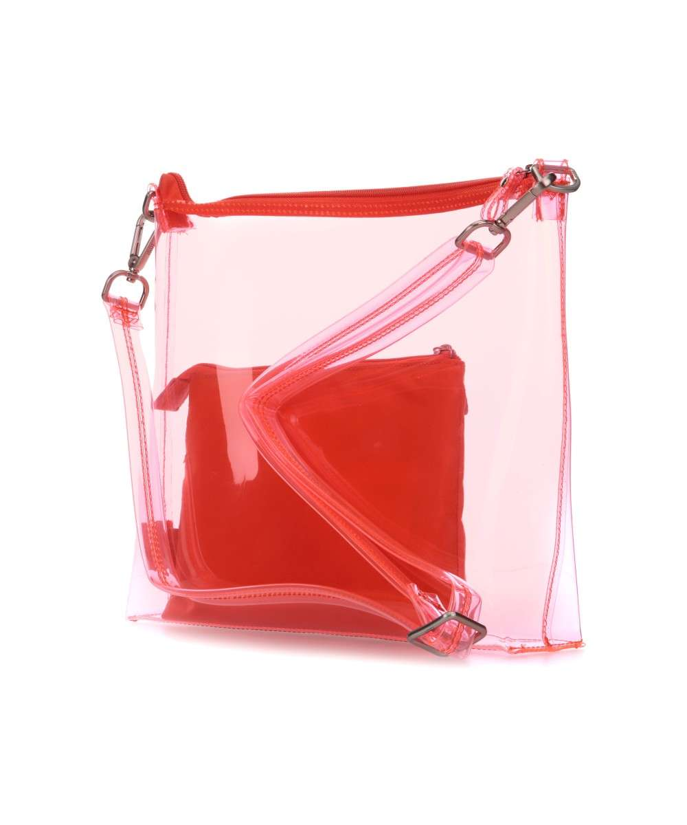 Jost Transparent 2tlg Schultertasche orange-2772-509-01 Preview