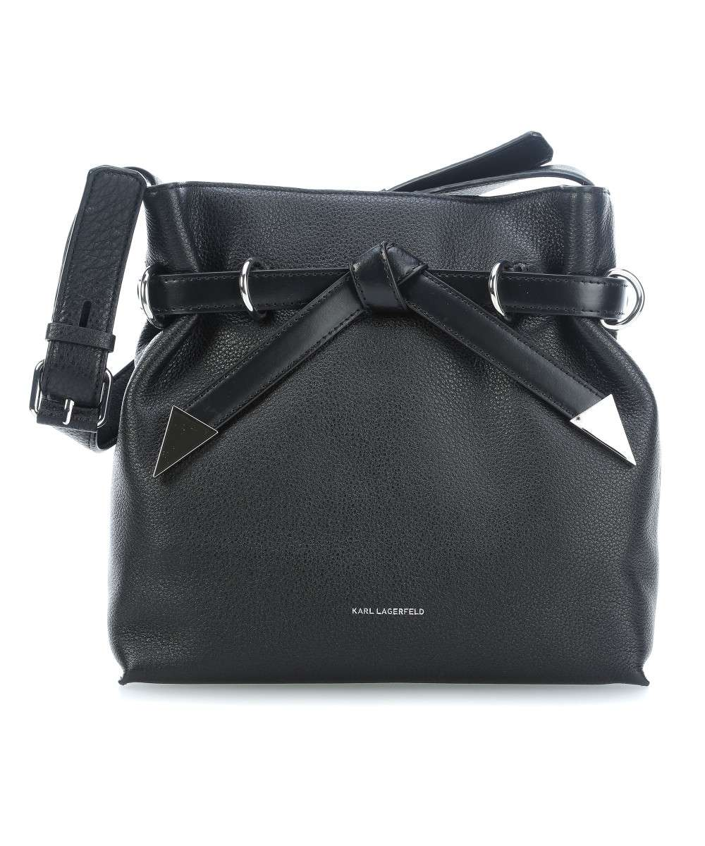7a3eeed6168 Karl Lagerfeld K/Rocky Bow Hobo bag leather black - 81KW3042-999 ...