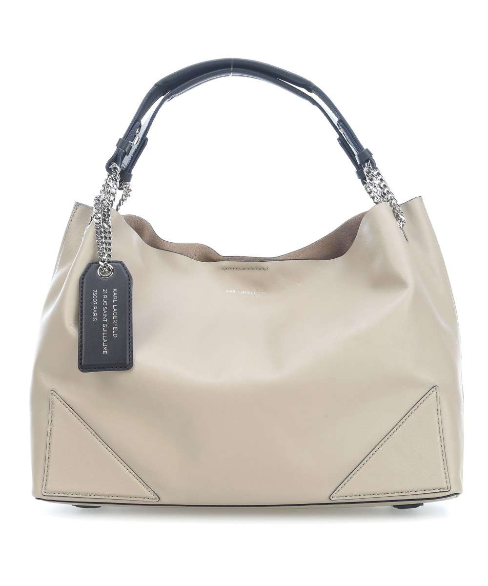 13899d8f1f Karl Lagerfeld K Slouchy Hobo bag leather sand - 76KW3057-751 ...