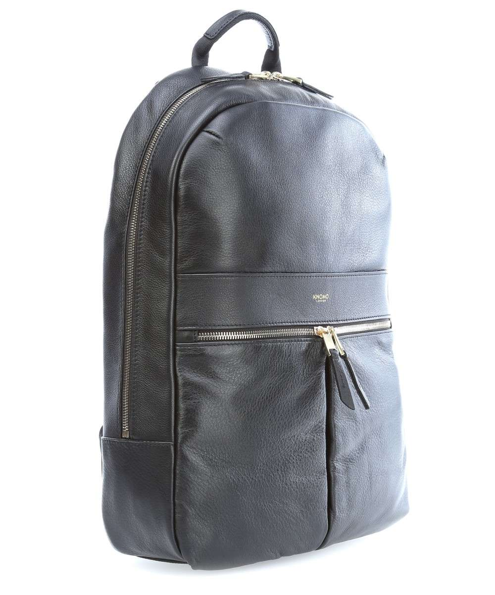 b626fd2bb000 Knomo Mayfair Luxe Beaux Laptop backpack 14″ leather black - 120-401 ...