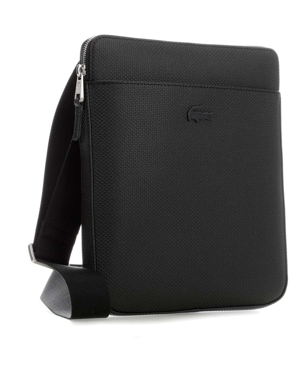 03c91d386 Lacoste Chantaco Crossbody bag embossed cow leather black ...