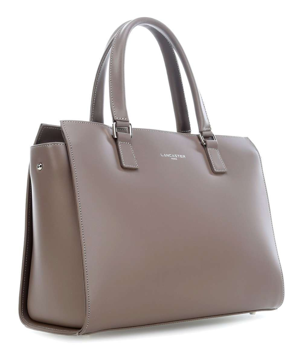 7447c74f6079 Lancaster Constance Handbag cow leather taupe - 437-04-TAUPE ...