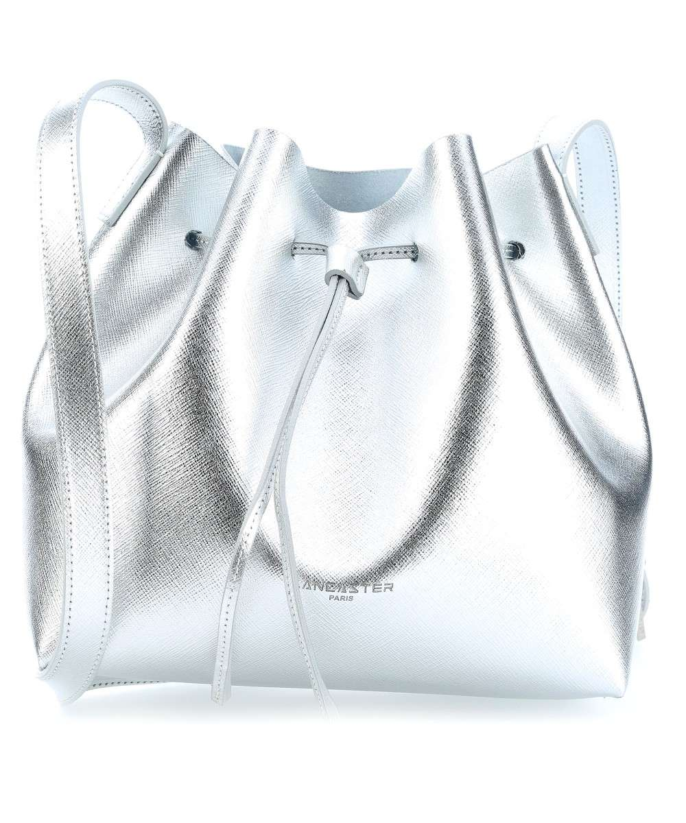 Lancaster Pur Element Saffiano Pur Bucket bag silber Preview