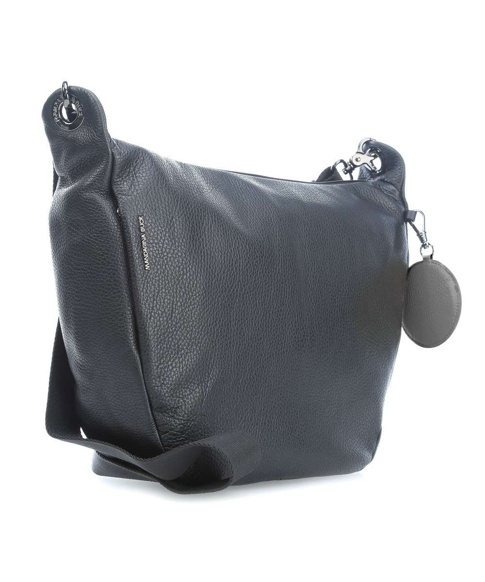 be24ed619a Mandarina Duck Mellow Leather Borsa a tracolla pelle nero - FZT59001 ...