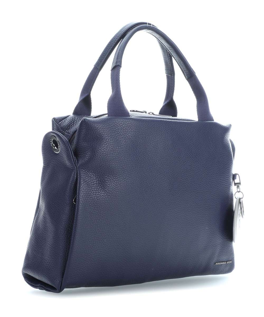 Mandarina Mellow Leather Dark Duck Cow Grained Blue Handbag 4rOB45wq