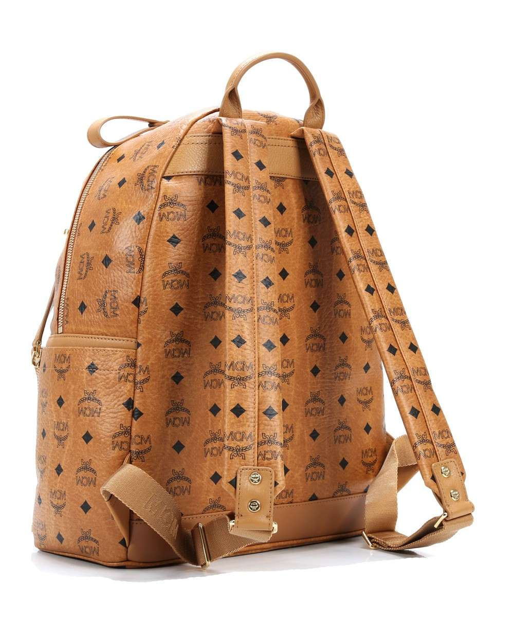 Backpack synthetic cognac