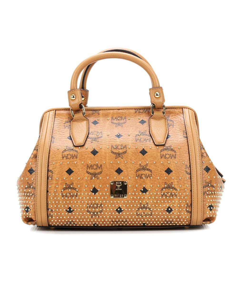 MCM Gold Visetos Handtasche cognac Preview