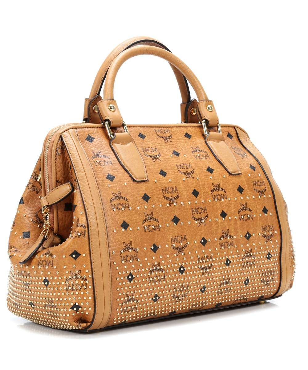 MCM Gold Visetos Sac à main cognac-MWB4SVI90CO001-01 Preview