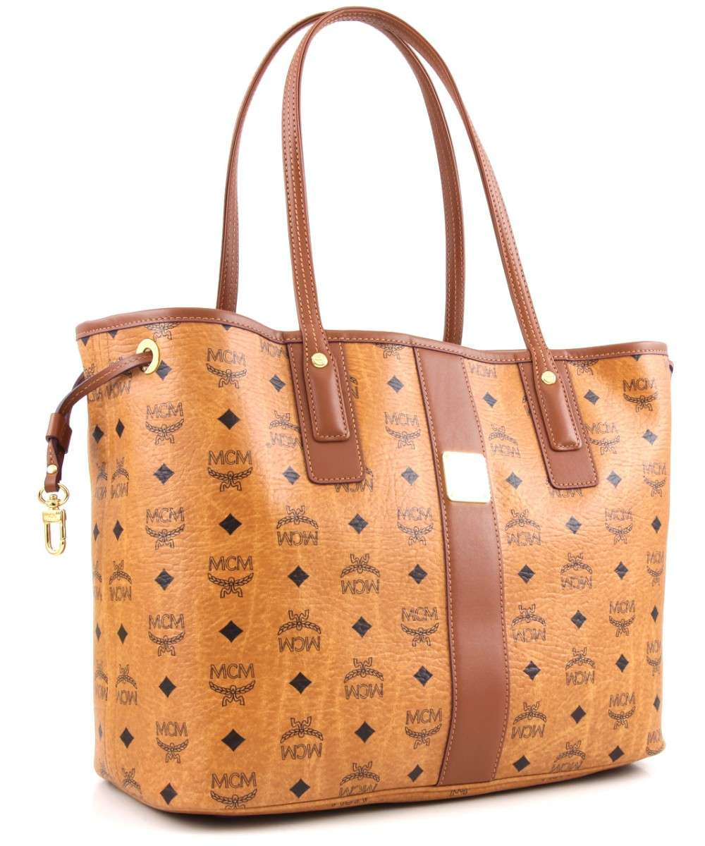 MCM Heritage Line Shopper cognac Preview
