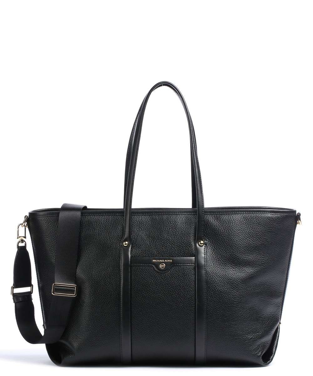 Beck Tote bag grained cow leather black