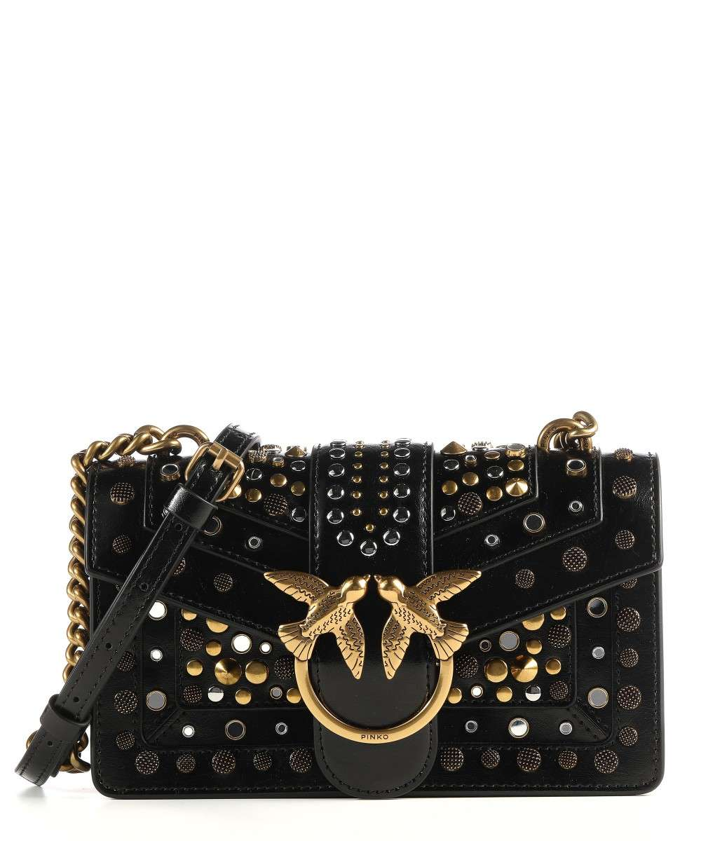 Pinko Love Mini Icon Shoulder Bag Leather Black 1p21v3 Y6mc Z99 Wardow Com