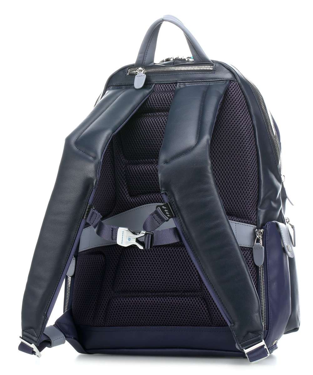 Piquadro Coleos Laptop backpack blue-CA2943OS-BLU2-01 Preview