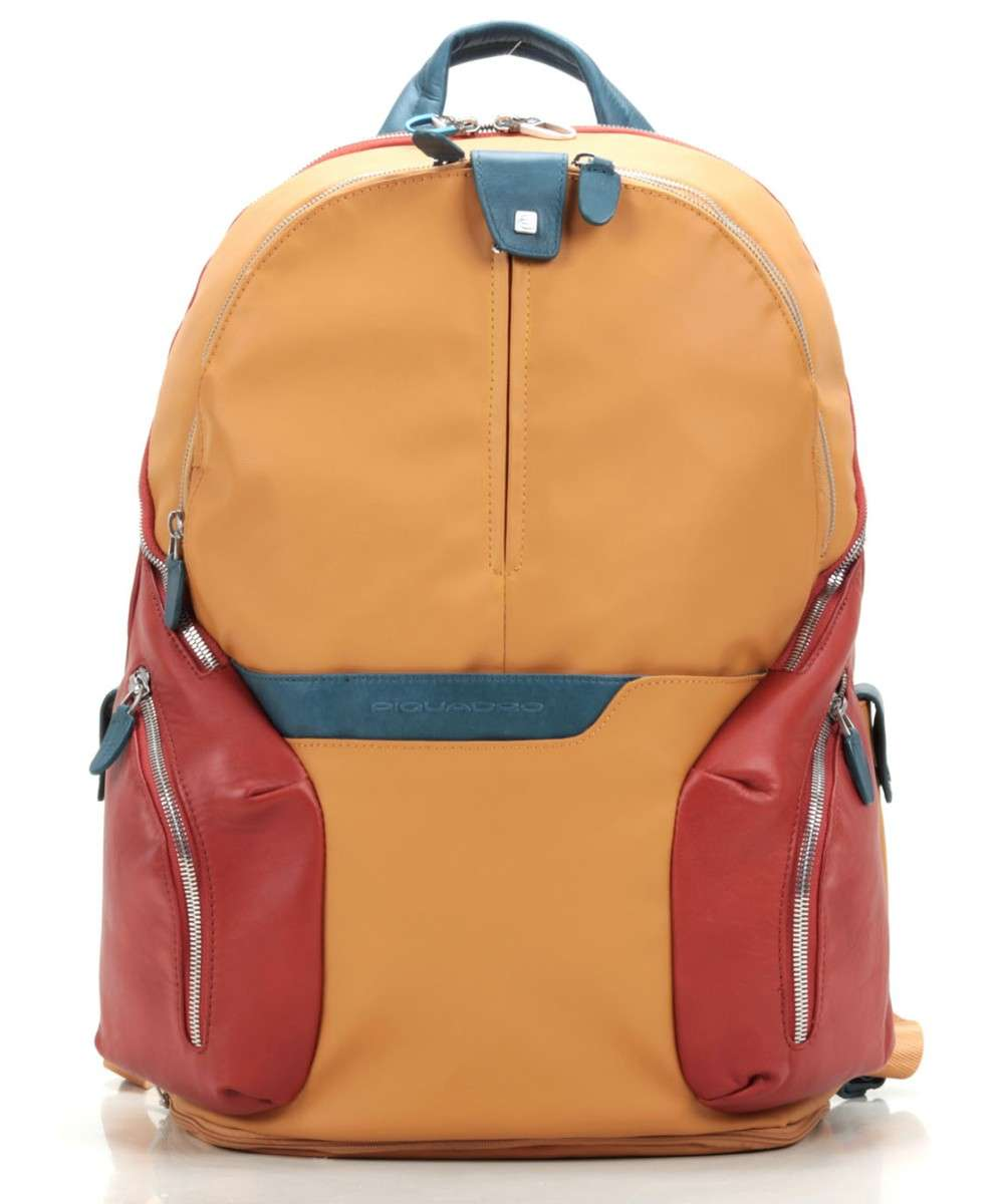 Piquadro Coleos Laptop backpack red/orange Preview