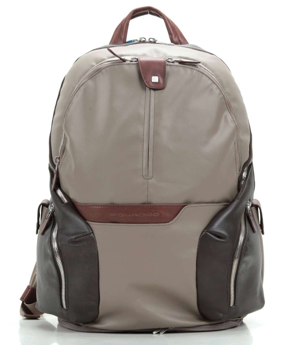 Piquadro Coleos Laptop backpack taupe Preview
