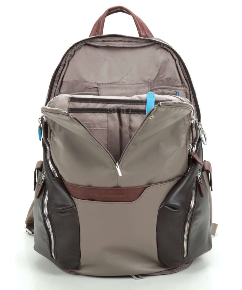 Piquadro Coleos Laptop backpack taupe-CA2943OS-TO-01 Preview