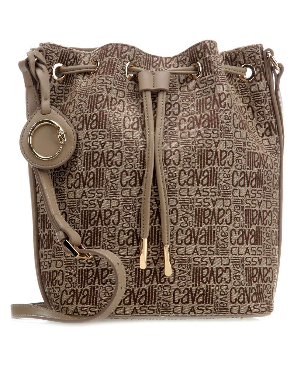 Roberto Cavalli Class Spring Jacquard Bucket bag beige Preview