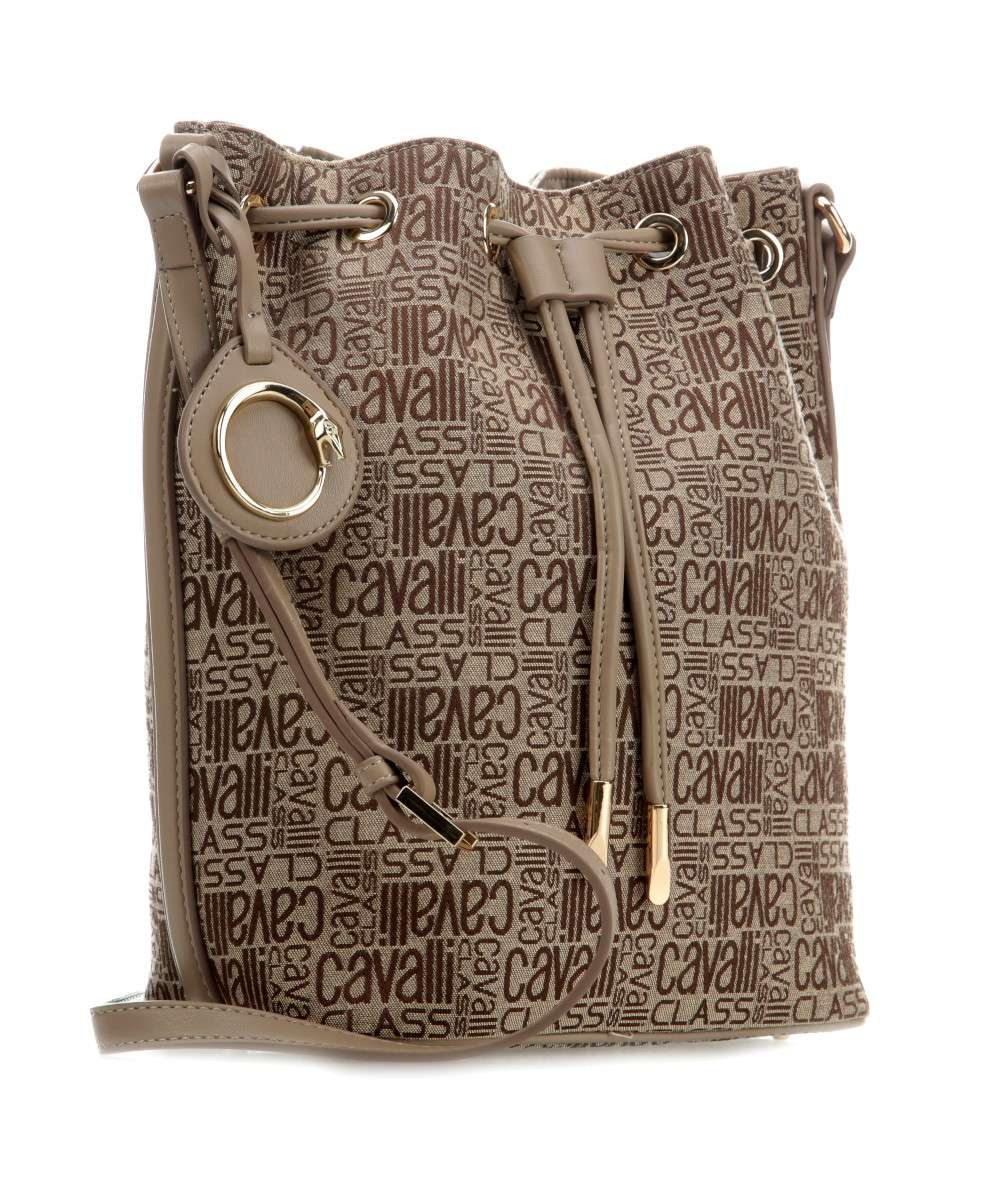 Roberto Cavalli Class Spring Jacquard Bucket bag beige-C90PWCA80042-022-01 Preview