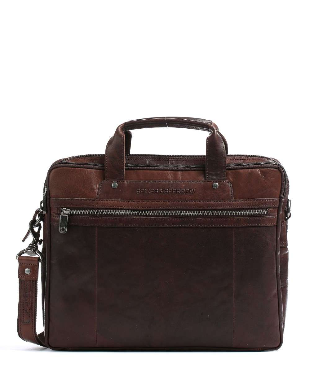 Spikes & Sparrow Bronco Briefcase dark brown Preview