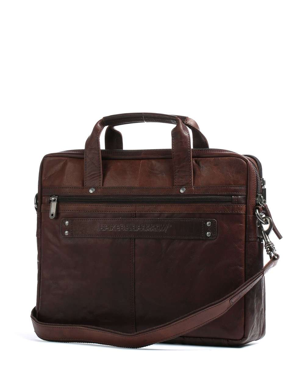 Spikes and Sparrow Bronco Briefcase dark brown-24244N01-01 Preview
