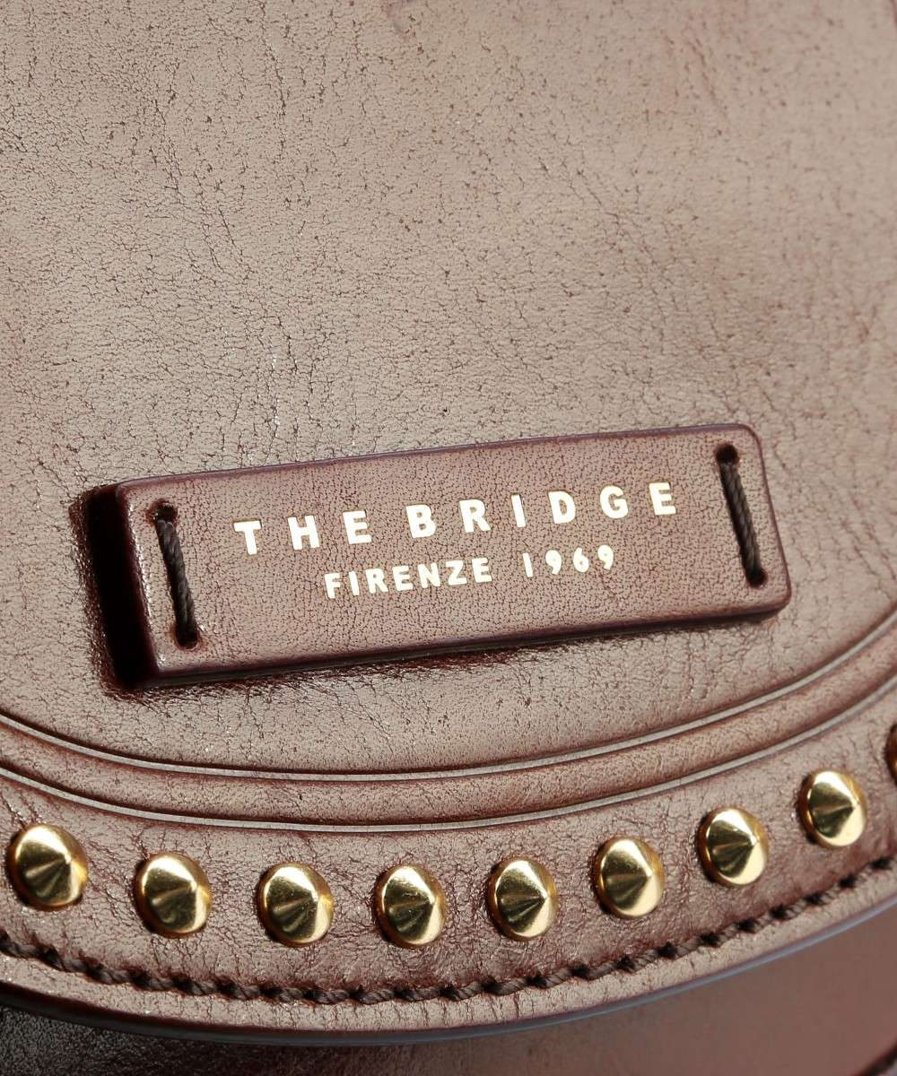 marrone The Bridge pelle Borsa Rock a spalla grYOwrqd