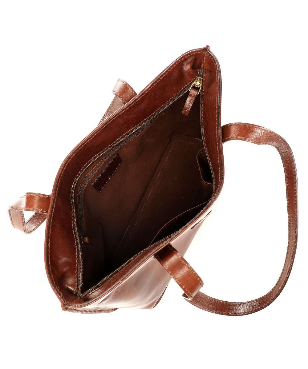 Donna pelle Borsa Story marrone a The Bridge mano ExHUtYtqw