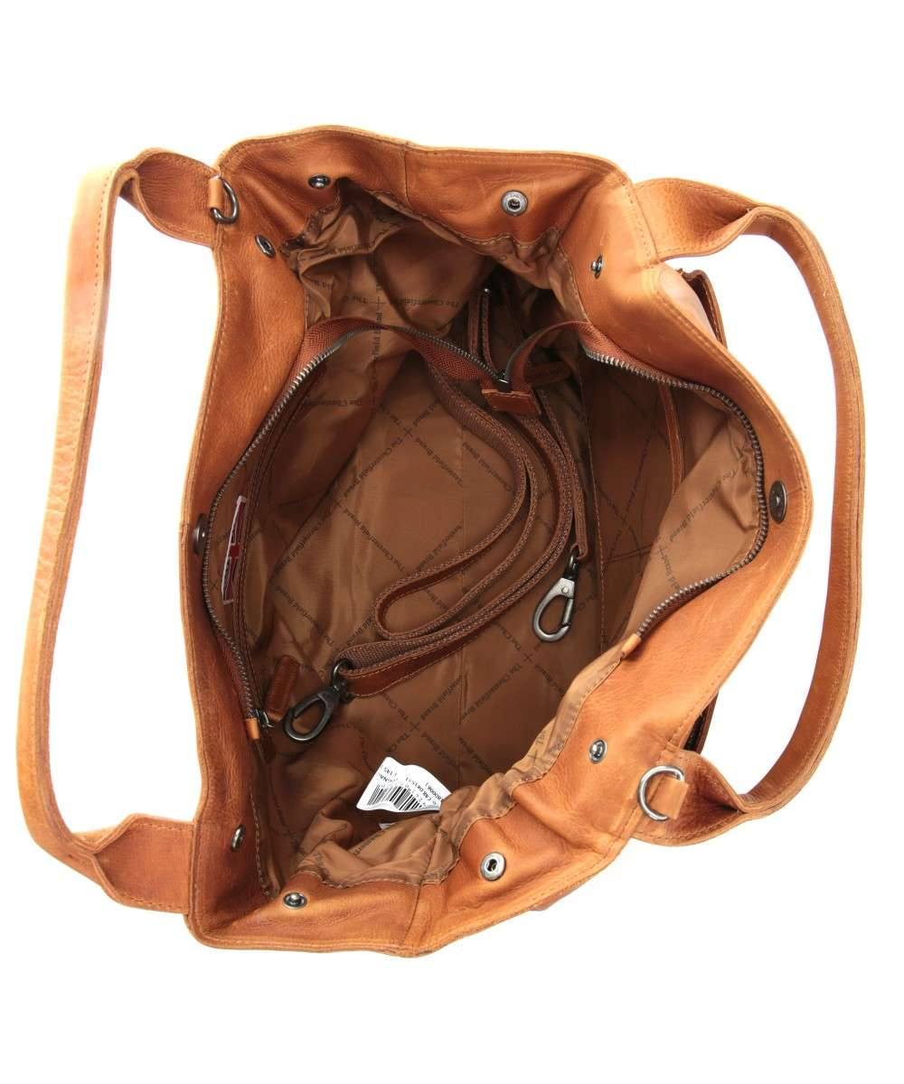 di Brand pull pelle mano cognac The Chesterfield Cardiff vacchetta a Borsa up xYT0nnWz