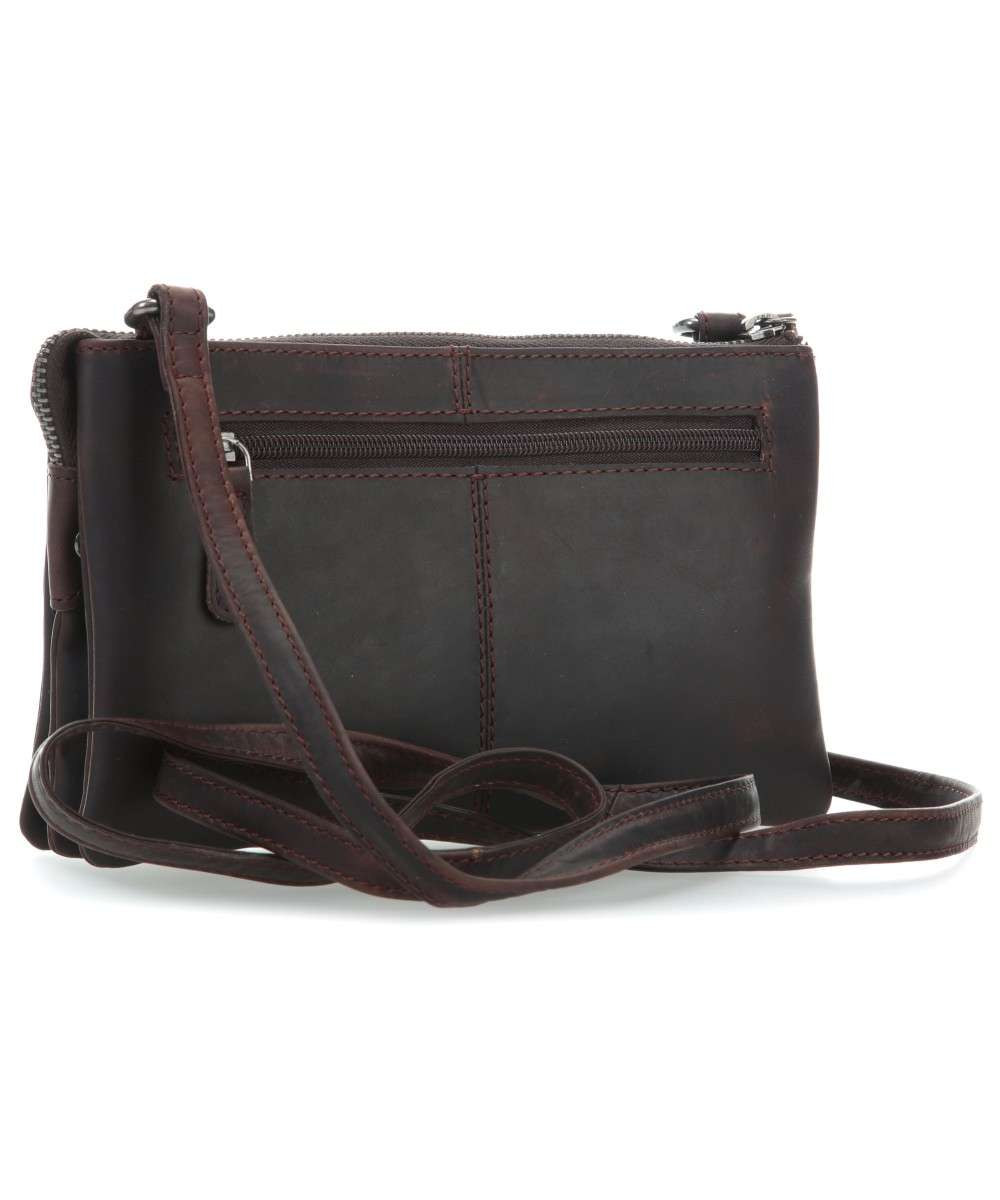 scuro up Borsa a Chesterfield Sadie Brand vacchetta The pelle marrone pull di spalla qv6w7p71C