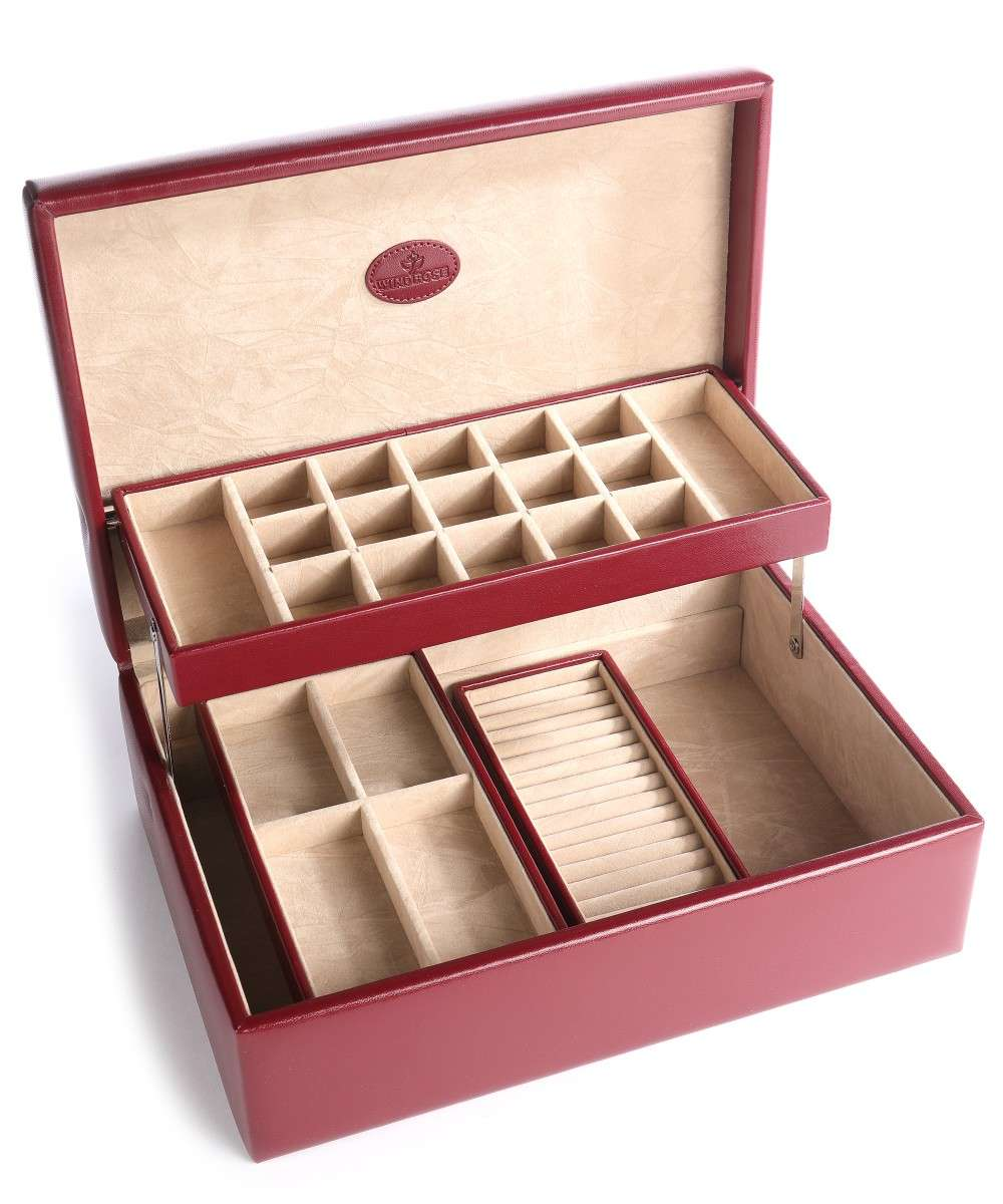 Windrose Merino Jewelry box red-80335-00-01 Preview